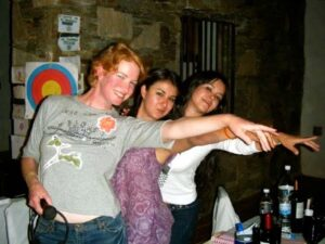 With Mexican colegues Liliana and Carisa at Mexico event in 2008.